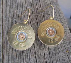 Diamond B Jewelry -Brass 12 G AMMO EARRINGS ****NEW*** $15