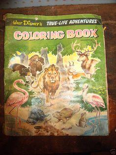 True-Life Adventures Coloring Book, Whitman, Marjorie Hartwell, 1957