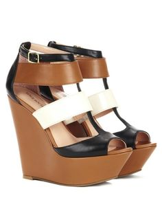 Colorblock wedges