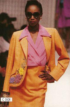French model Katoucha Niane at 1989S/S Christian Dior show.