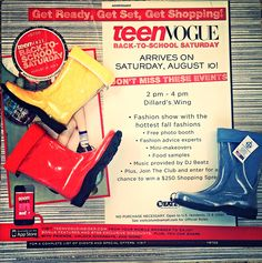 Today is BACK TO SCHOOL SATURDAY!!! Don't miss the #TeenVogue #fashion show at the Columbia Mall from 2-4!!! #BootsByTwoAlity will be making their #runway debut!!! See you there!!! ❤ #TwoAlity #RainStyle #MadeinAmerica
