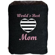 Worlds Best Mom Blanket: Custom 2-in-1 Poly Fleece Pillow Blanket - Customized Girl $24.97 #mom #mothersday #mothers #blanket #gift