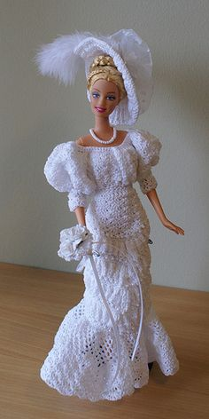 barbie doll crochet dresses | Handmade crochet doll clothes for Blythe and Barbie by LostStitch