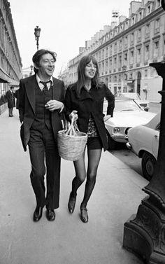 C'était le couple mythique. / Jane Birkin and Serge Gainsbourg.
