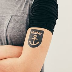 Tattly tattoo - printed with vegetable-based ink.