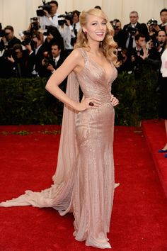 Blake Lively in Gucci at the Met Gala 2014