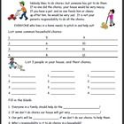Life skills worksheet on the importance of doing chores. Students will ...