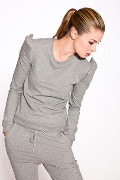 BACK BY ANN-SOFIE BACK, SHOULDERPAD SWEAT: could i actually own or wear a sweatshirt? it's been so very very long. $162