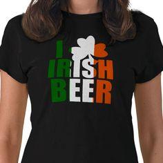 I Love Irish Beer St. Patrick's Day T-Shirt