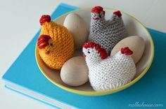 Knit Chicken Egg Cozies: