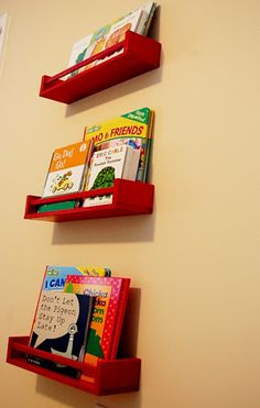 Ikea Hack- Kids Bookshelves from Ikea Spice Racks