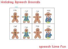 Speech Time Fun: Holiday Speech Sounds!