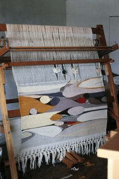 Tapestry on the Loom in 1985, Woven by Rachel Brown  http://weavingsouthwest.wordpress.com/2013/01/21/sunday-inspiration-on-a-monday-evening-the-tapestries-of-rachel-brown-circa-summer-1985/