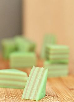 Kue - Malaysian/ Indonesian layered steam rice cake flavored with pandan and coconut milk