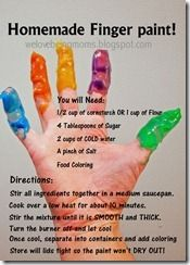 simple homemade finger paint recipe