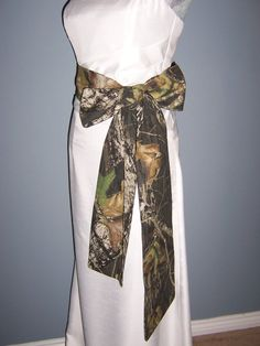 CUSTOM ORDER for Heather Camo Wedding, Sash, Camouflage, Mossy Oak, Bridal Sash, Prom Sash, Belt