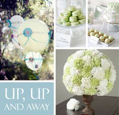 Up, Up and Away Hot Air Balloon Baby Shower Ideas - #babyshower #genderneutral
