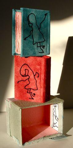 Journal box set with hand inked artwork by strikebooks, Bookbinding Original Art Books. $120.00, via Etsy.