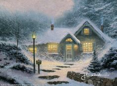 Home For The Evening by Thomas Kinkade
