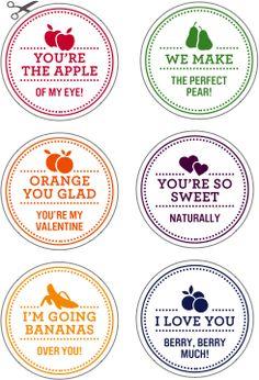 valentines day fruit stickers