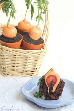 Recipe for Stuffed Carrot Garden Cupcakes