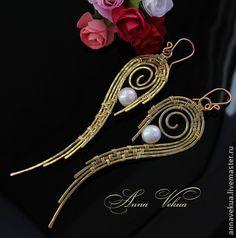 """Handmade earrings.  Fair Masters - handmade earrings """"Wings.""""  Handmade."""