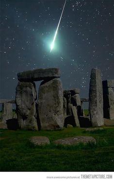 Meteor over Stonehenge