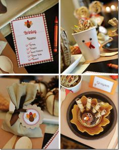 cute kids' table ideas for Thanksgiving...