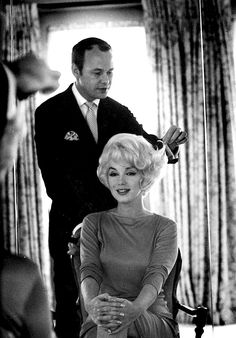 Kenneth & Marilyn Monroe — Kenneth Battelle has been described as the world's first celebrity hairdresser. He achieved international fame for creating Jacqueline Kennedy's bouffant in 1961.