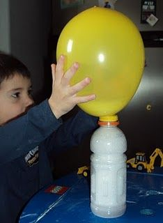 baking soda and vinegar with balloon
