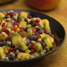 Roasted Corn, Black Bean & Mango Salad Recipe