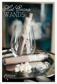 Hot Cocoa Wand Party Favors, Halloween Party Favor, Wedding Favor, Edible Favor, Test tube favor, Hot Chocolate party favor, Winter party favor