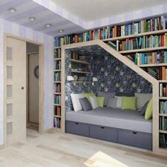 Great use of the space under the stairs!