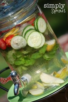 This Mother's Day Make Refreshing Spa Fruit Water...a Frugal treat! More on Frugal Coupon Living.