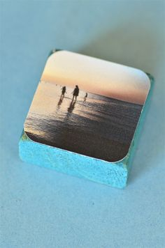 Or wood-block coasters. | 20 Non-Scrapbook Ways To Remember Your Vacation Forever
