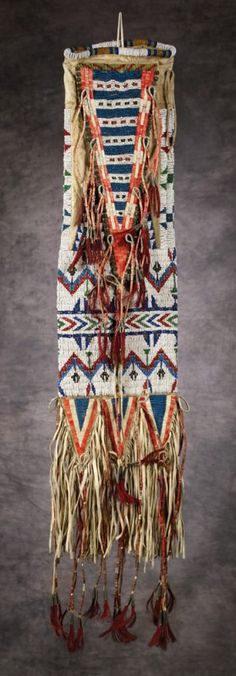 quilled bag | 225: Sioux Beaded and Quilled Pipe Bag