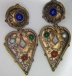 Etruscan Archeological RUNWAY Earrings