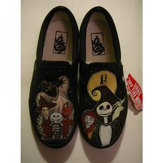 HANDPAINTED Nightmare Before Christmas Custom Vans Shoes ($220 ...