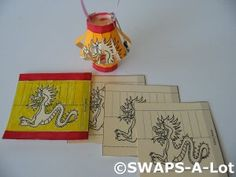 Mini Chinese/Japanese Paper Lantern SWAPS Kit for Girl Kids Scout makes 25