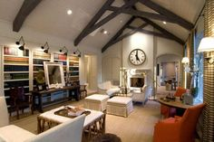 million dollar homes, living rooms, lighting, beams, librari