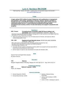 rn resume on pinterest nursing resume new grad nurse