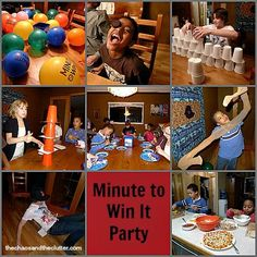 Family Fun Night – Minute to Win It | The Chaos and the Clutter