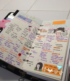 Planner pages by mamachu0330, via Flickr; wish I could keep my planner this fun and organized