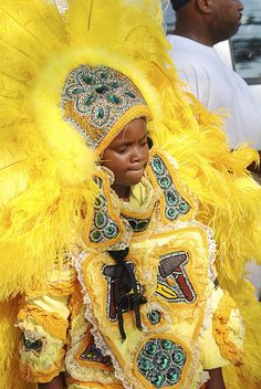 Mardi Gras Indian in New Orleans. (photo from flickr courtesy of Kris Arnold)