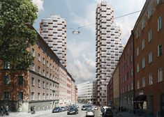 A pair of skyscrapers for Stockholm by OMA