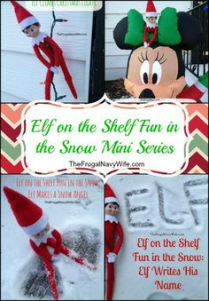 Elf on the Shelf Fun in the Snow Mini Series Round Up #elfontheshefl #elfshelf #christmas