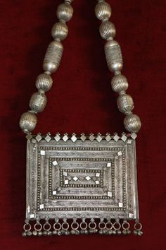 yemen silver quraan box necklace