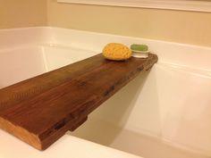 DIY bath tub tray