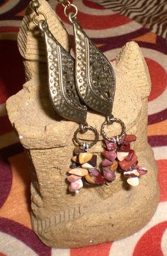 Tibetan Style Antique Brass Dangle Earrings by JazzyDazzleJewelry, $25.00. A listing favorite