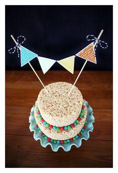 Rice Krispie cake! So fun.